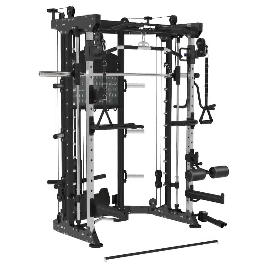 Binom Steel Force B9 Multigimnasio, Doble Polea carga de Disco, Power Rack, Multipower y accesorios
