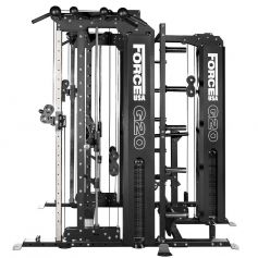 Force USA G20 Functional Trainer, Smith Machine, Squat Rack, Vertical Leg Press, Lat Pull Down & Low Row