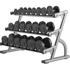 3-Tier Dumbbell Rack Optima Series - Life Fitness (Racks)