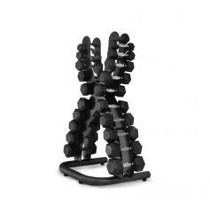 Rack X mancuernas de 1 a 10 kg. 10 pares + Mancuernas Hexagonales 1 kg - 10 kg - 105038-1/10H PROWOD I progym.es