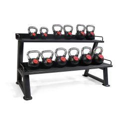 Rack 2 Bandejas Kettlebells + Lote de Kettlebells de Goma 4-20 kg I PROWOD I progym.es