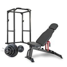 Pack Musculación Titanium Strength Heavy Duty Rack + Banco + Discos