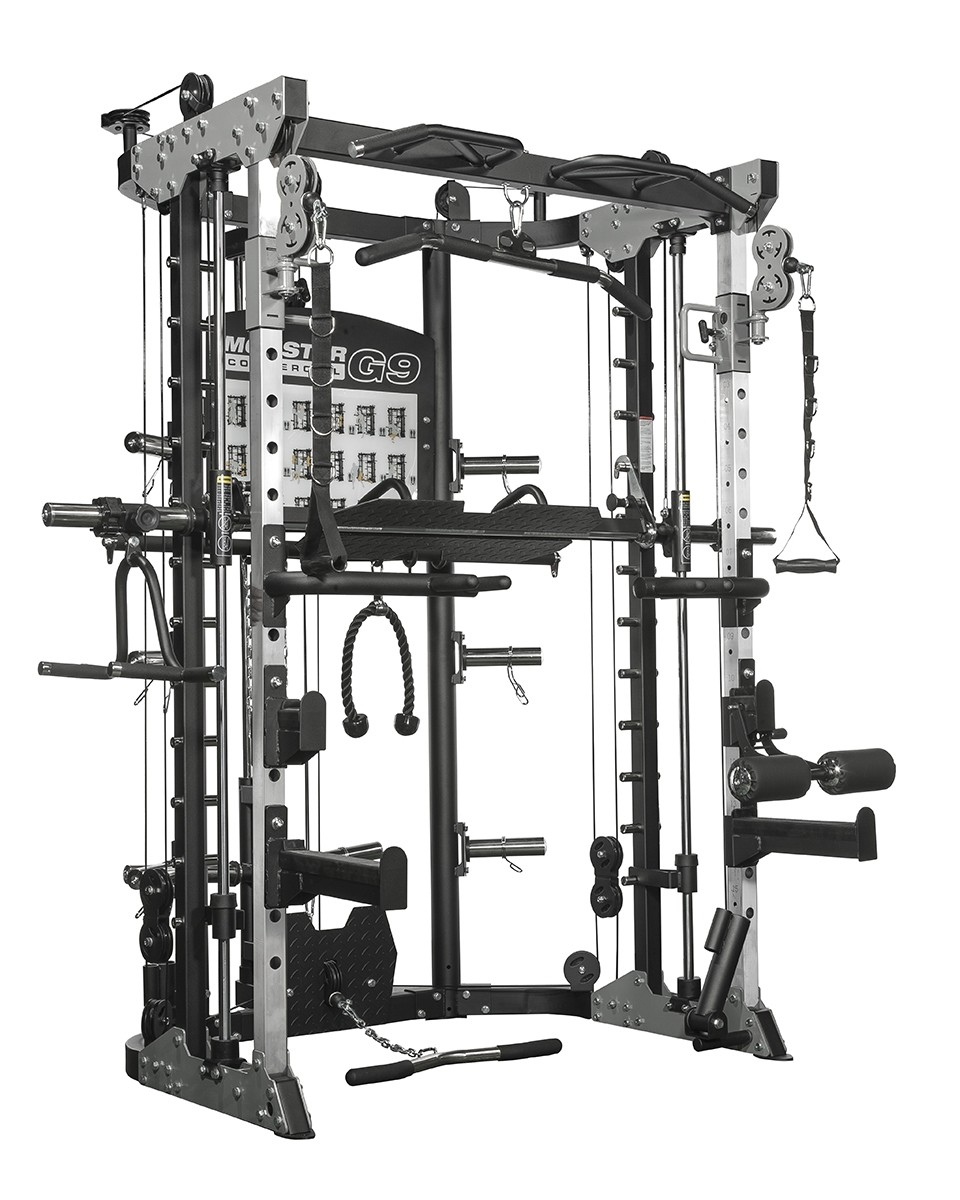 Force USA G9 Multigimnasio Total, Power Rack, Smith Machine, Prensa de Piernas y accesorios - 100% Profesional