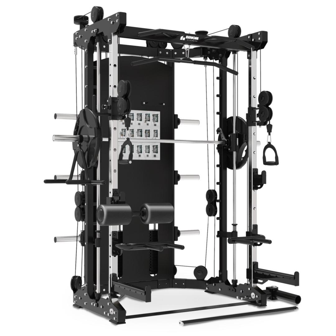 Binom Steel Force B12 Multigimnasio Total, Power Rack, Smith Machine y accesorios - 100% Profesional