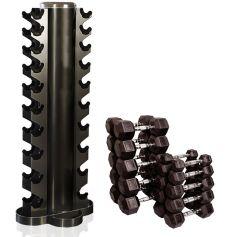 Set Rack Vertical + Mancuernas