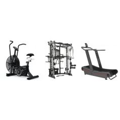 Titanium Strength Pack AirBike + Monster G9 + Curved Treadmill