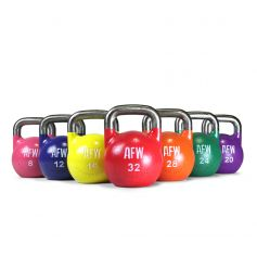 Lote Kettlebells Competition Promax 8-32 kg - 105151/157-2 AFW (Peso Libre)