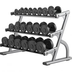 3-Tier Dumbbell Rack Optima Series - Life Fitness (Racks)