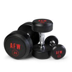 Lote de Mancuernas de Goma Pro 2,5 kg - 25 kg - 105001/10 AFW (Peso Libre)